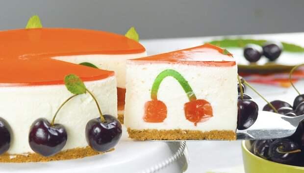 Оригинальный торт «Счастливая вишня»: красивый десерт с жевательным мармеладом