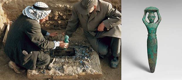 Закладная статуэтка царя Шульги. Найдена при раскопках Ниппура в 1956 году. ancient-origins.net - Божество на троне   Военно-исторический портал Warspot.ru
