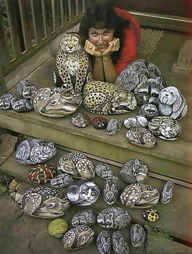 Рисунки на камнях. Невероятно реалистично!