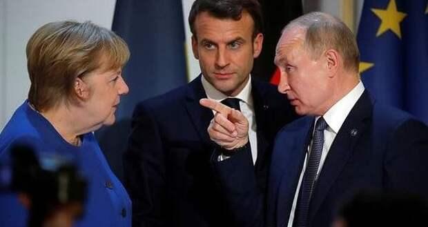 """Макрон и Меркель """"потеряли"""" Путина"""