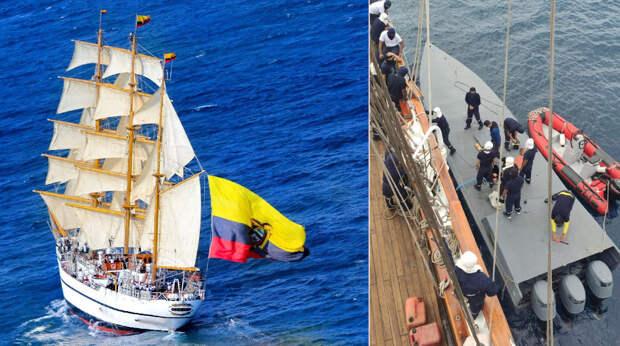Парусник Эквадора задержал подводную лодку с кокаином