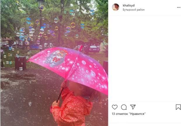 Фото дня: дождь из мыльных пузырей в Бутырском