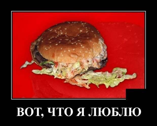 Демотиватор про бургер