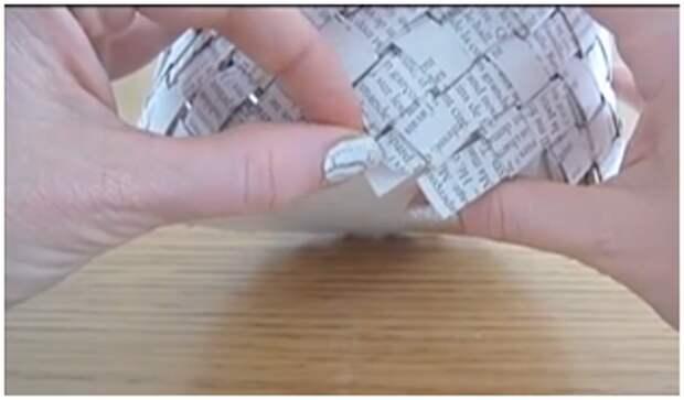Вазы из газет или бумаги своими руками