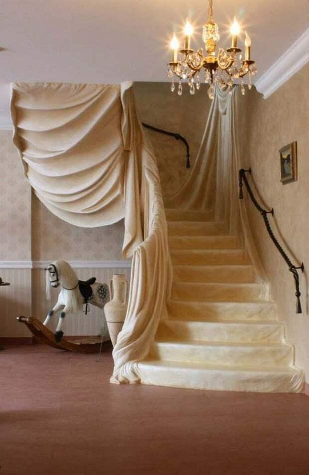 Лестница с эффектом тромплей
