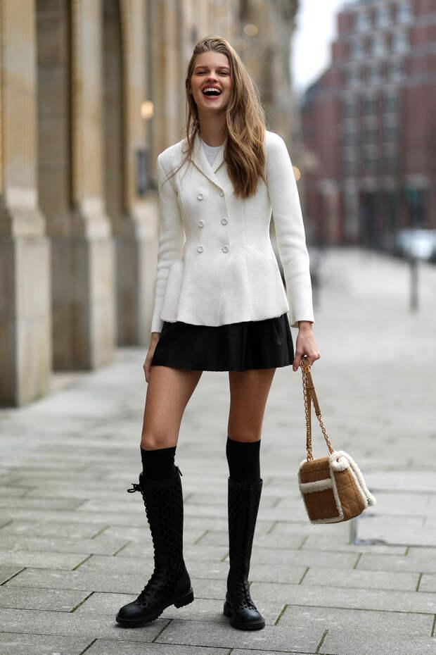 Как носить рискованные суперкороткие мини-юбки и выглядеть элегантно