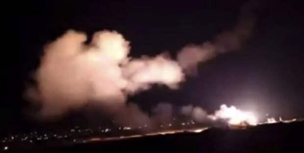 Самолеты Израиля нанесли новый мощный удар по юго-западу Сирии