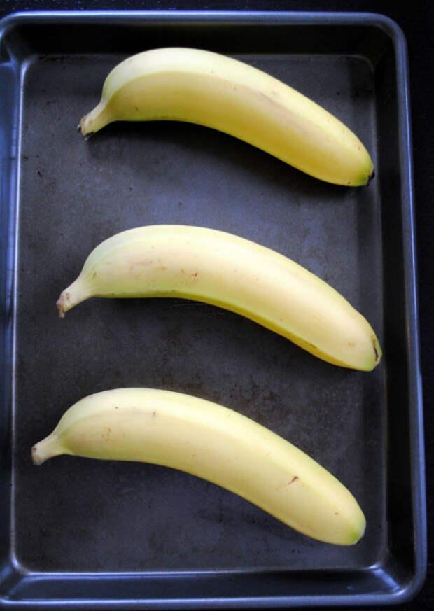 Не доспевшие бананы в духовке.   Фото: Pinterest.