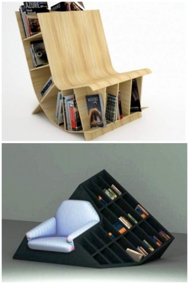 Нестандартные конструкции кресел станут прекрасным местом для чтения книг. | Фото: yandex.ua.