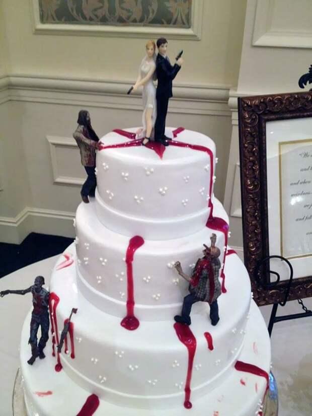 40 забавных, ачаще попросту неудачных свадебных тортов
