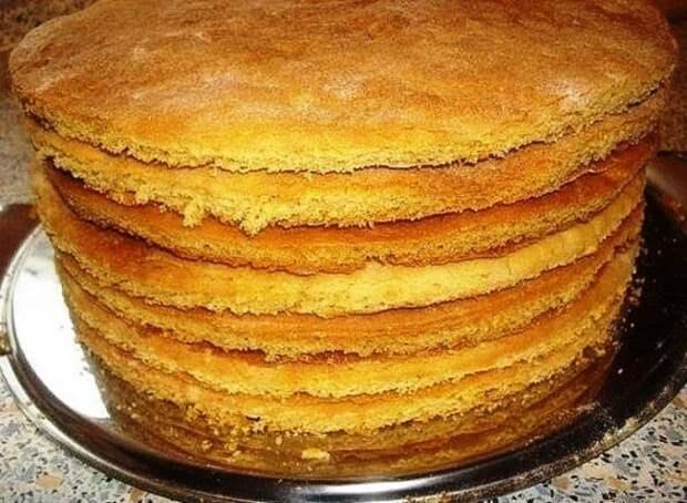 Без духовки коржи для торта 3
