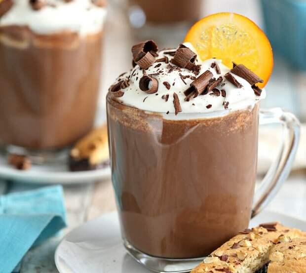 алкогольное какао с апельсином
