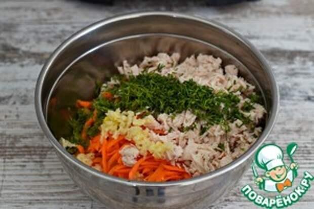 Рулет яичный с сыром и морковью Морковь