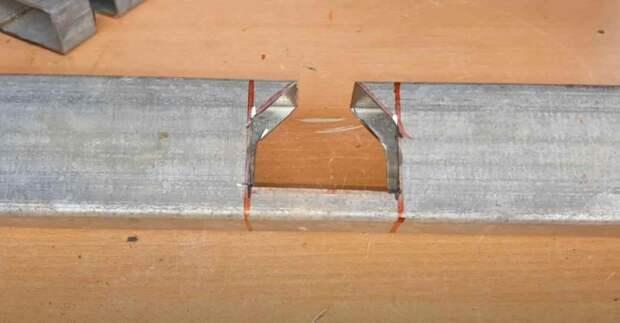 Необычный способ углового соединения профильной трубы