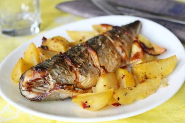 Скумбрия с картофелем в духовке. Сытный и полезный ужин для всей семьи 2