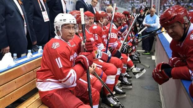 Команда президента РФ победила в Ночной хоккейной лиге со счетом 13:9