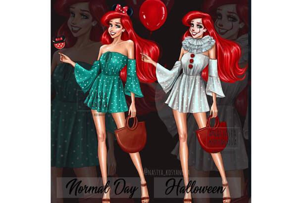Принцессы Disney в образе для Halloween