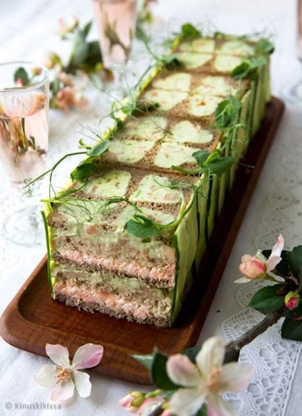 Отличные идеи для любого стола — бутербродные торты