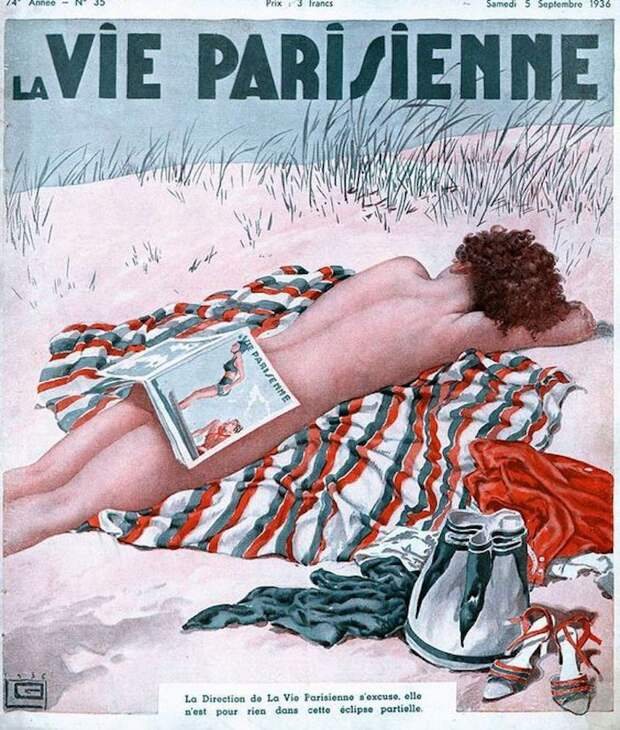 Иллюстрации легендарного журнала La Vie Parisienne с налетом эротики в стиле ар-нуво