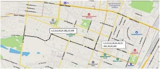 В Горловке 9 мая в связи с проведением праздничной дискотеки будет изменено движение транспорта