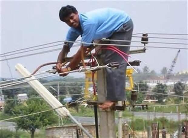 Вот почему электрики долго не живут глупость, на производстве, почему мужчины живут меньше, прикол, случаи на стройке, специалист по тб, техника безопасности