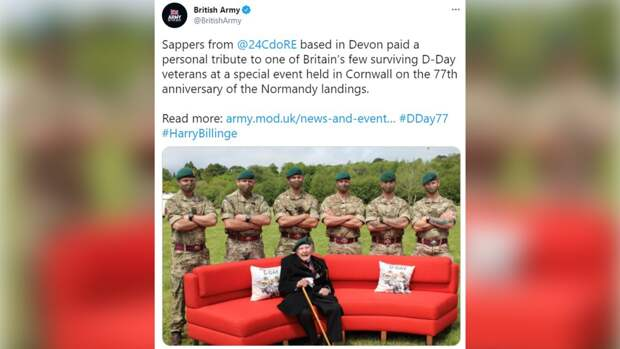 Британские солдаты опозорились, повторив на фото с ветераном скандальный мем