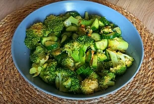 Вкусный и полезный салат из брокколи