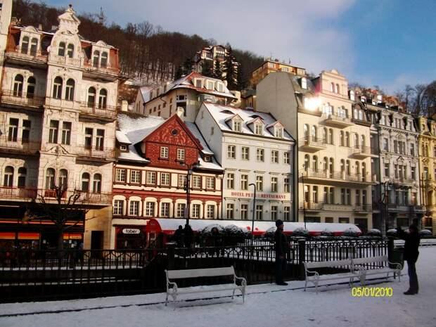 Зимой в Карловых Варах
