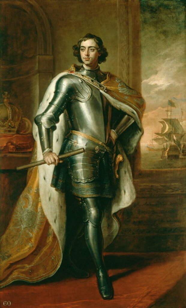 Портрет царя Петра Алексеевича в 1698 году работы немецкого художника Готфрида Кнеллера