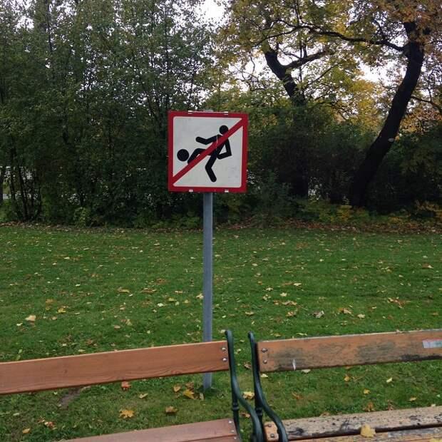 Если обнаружите отрезанную голову, то не пинайте её дорожный знак, знак, знаки, неведомая херня
