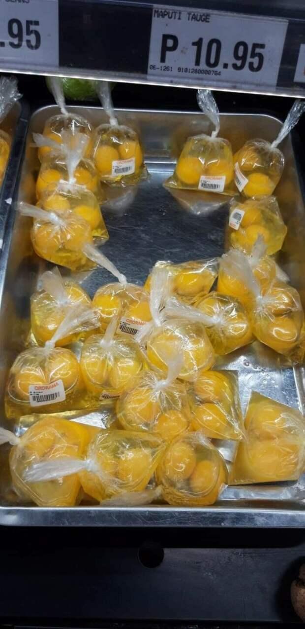 яйца в пластике без скорлупы
