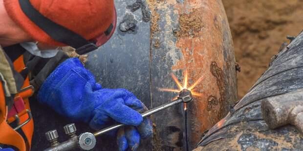 На проспекте Мира реконструируют газовые сети