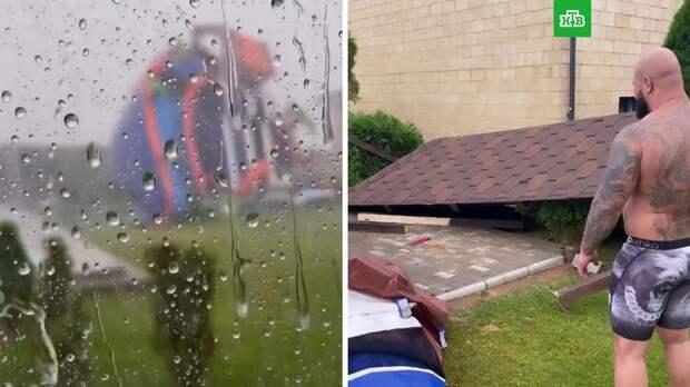 Ураган в Подмосковье снес имущество Джигана на 2 миллиона