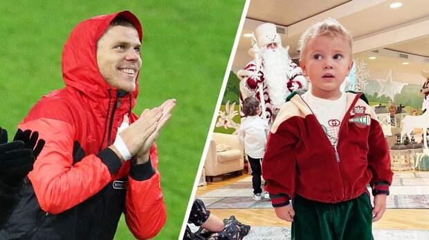 Жена Кокорина показала, как их 3-летний сын Майкл танцует брейк-данс для Деда Мороза: видео
