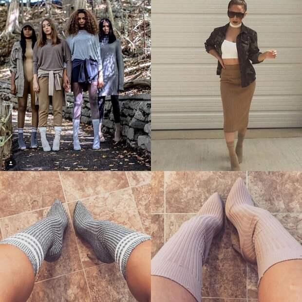 Носки поверх обуви