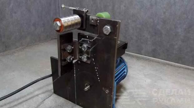 Настольный гриндер из электродвигателя и металлолома