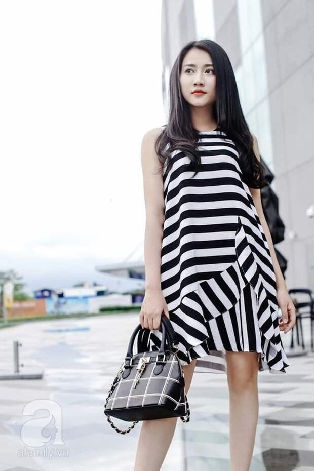 Полосатые платья (подборка)