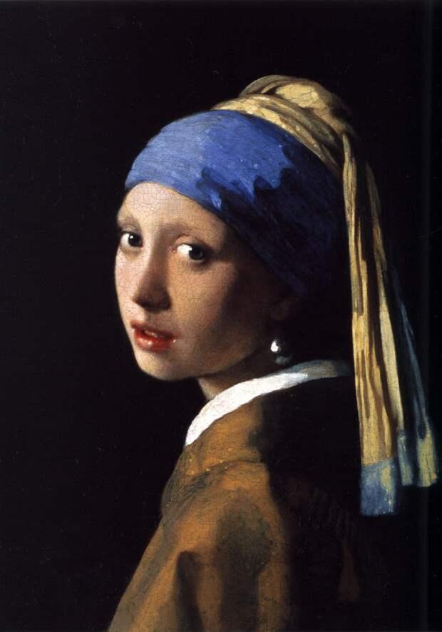 Ян Вермеер «Девушка с жемчужной серёжкой» 1665Хранится в галерее Маурицхейс в Гааге.