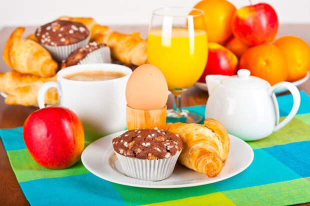 Сервировка стола к воскресному завтраку