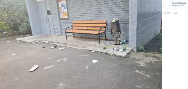 Двор в 3-м Лихачевском переулке очистили от мусора