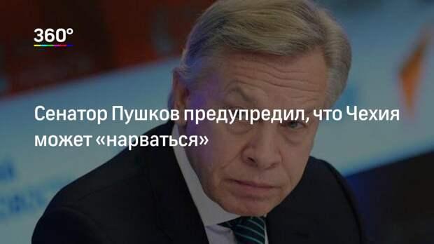 Сенатор Пушков предупредил, что Чехия может «нарваться»