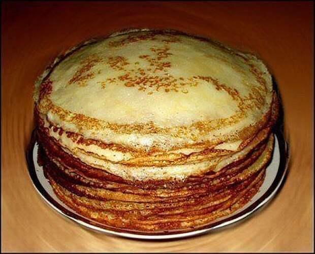Готовим блины к завтраку, не перепачкав гору посуды. Как раз к Масленице пригодится!