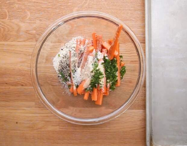 морковные палочки с сыром рецепт