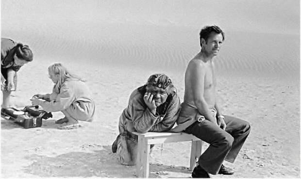 На съёмках фильма «Кин-дза-дза!» 1986 г.
