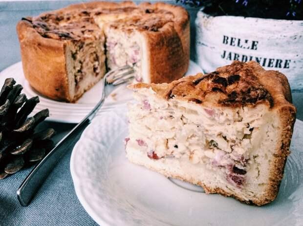 Луковый пирог (Zwiebelkuchen) пирог, длиннопост, Германия, рецепт, лук, готовка