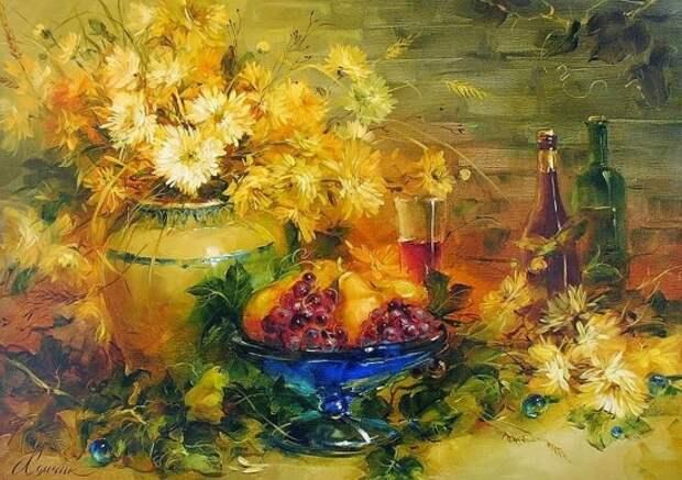 Художник Анна Хомчик. Пускай цветы меня заворожат