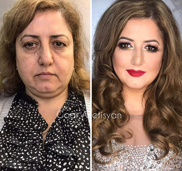 30 невероятных фото «До» и «После», которые показывают истинную силу макияжа