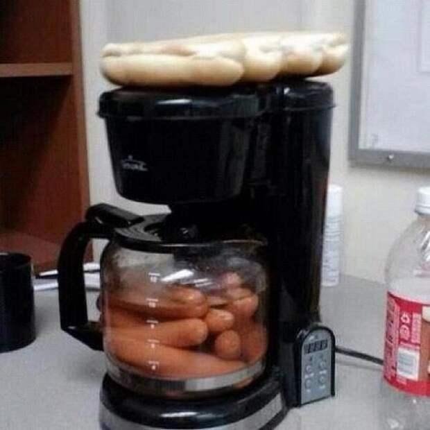 сосиски в кофеварке