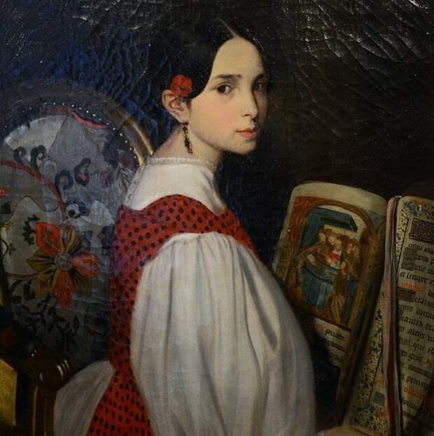 Фото: wikipedia.org портрет Леопольдины Гюго - старшей дочери Виктора Гюго