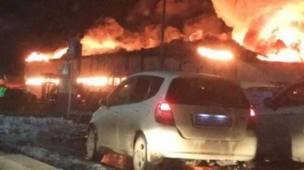 Очередной пожар, теперь в Тюмени